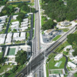 Aerial photo looking west on 44th Ave. E. from 301 Blvd. E. toward US 41/Cortez Rd.