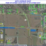 44th Avenue East from 19th Street Court East to 30th Street East Roll Plot