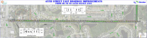 45th Street East Roadway Improvements from SR 70 to 44th Avenue East Roll Plot