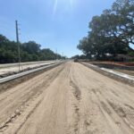 Eastward view of the future westbound travel lanes near 62nd Street East