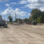 Utilities installation near 44th Avenue East and Morgan Johnson Road
