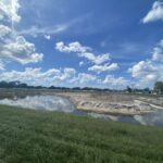 Continued progress of the stormwater retention pond near 44th Avenue East and Caruso Road
